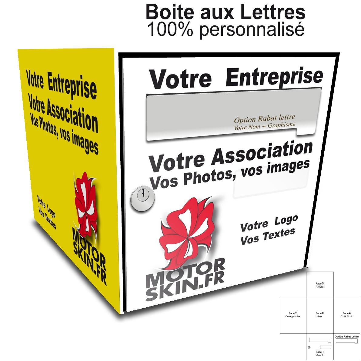 Deco boite aux lettres fashion designs - Stickers boite aux lettres ...