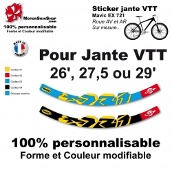 Sticker Mavic EX 721 Jante VTT