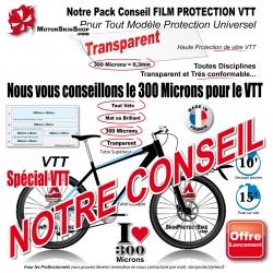 Plaque de Protection VTT Universel 300 Microns Plaque ou Bande
