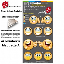 Planche Sticker Smiley Emoticon casque