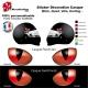 Sticker oeil Casque aérographe yeux casque