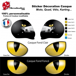 sticker casque autocollant personnalis motorskinshop. Black Bedroom Furniture Sets. Home Design Ideas