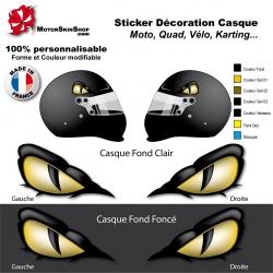 Sticker œil Serpent Casque aérographe yeux casque