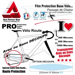 Film de Protection Base cadre vélo route passage chaine