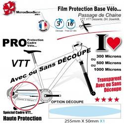 Film de Protection Base Cadre VTT passage chaine