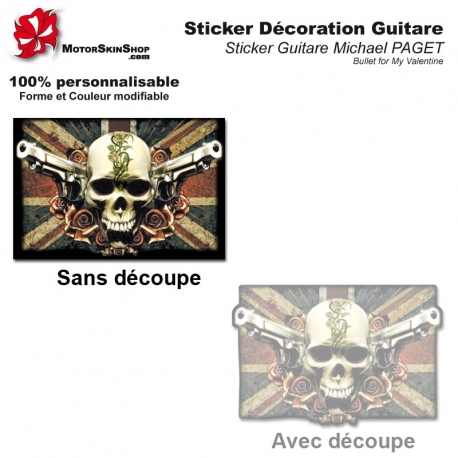 Sticker décoration guitare Michael PAGET V