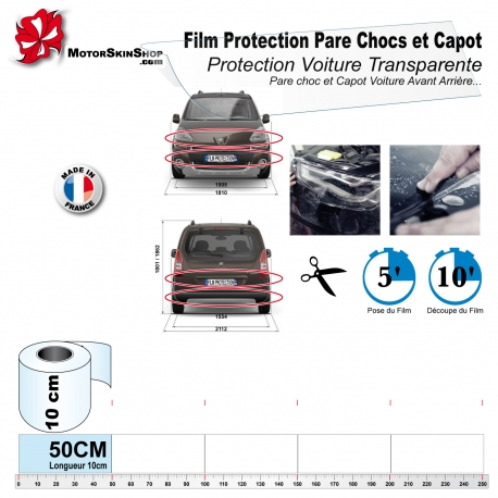 film de protection pare chocs capot voiture bouclier. Black Bedroom Furniture Sets. Home Design Ideas