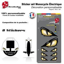 Planche Sticker Monocycle électique décoration Yeux oeil