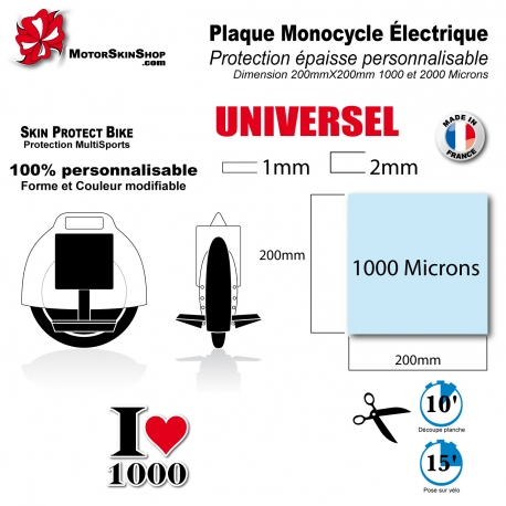 Plaque Film de Protection Monocycle électrique