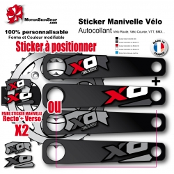 Sticker Manivelle XO Sram Truvativ gris ou rouge