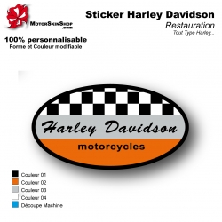 Sticker Harley Davidson Garde Boue Avant
