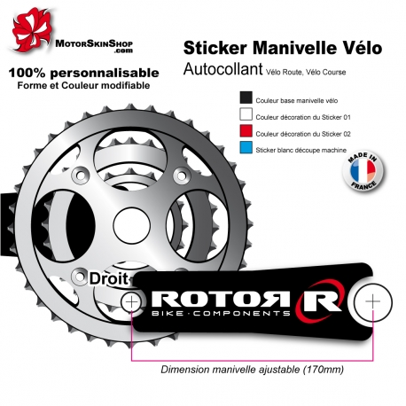 Sticker Manivelle Rotor Bike