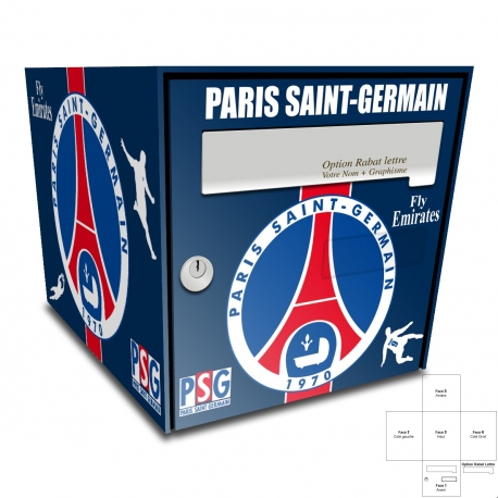 sticker boite aux lettres psg. Black Bedroom Furniture Sets. Home Design Ideas