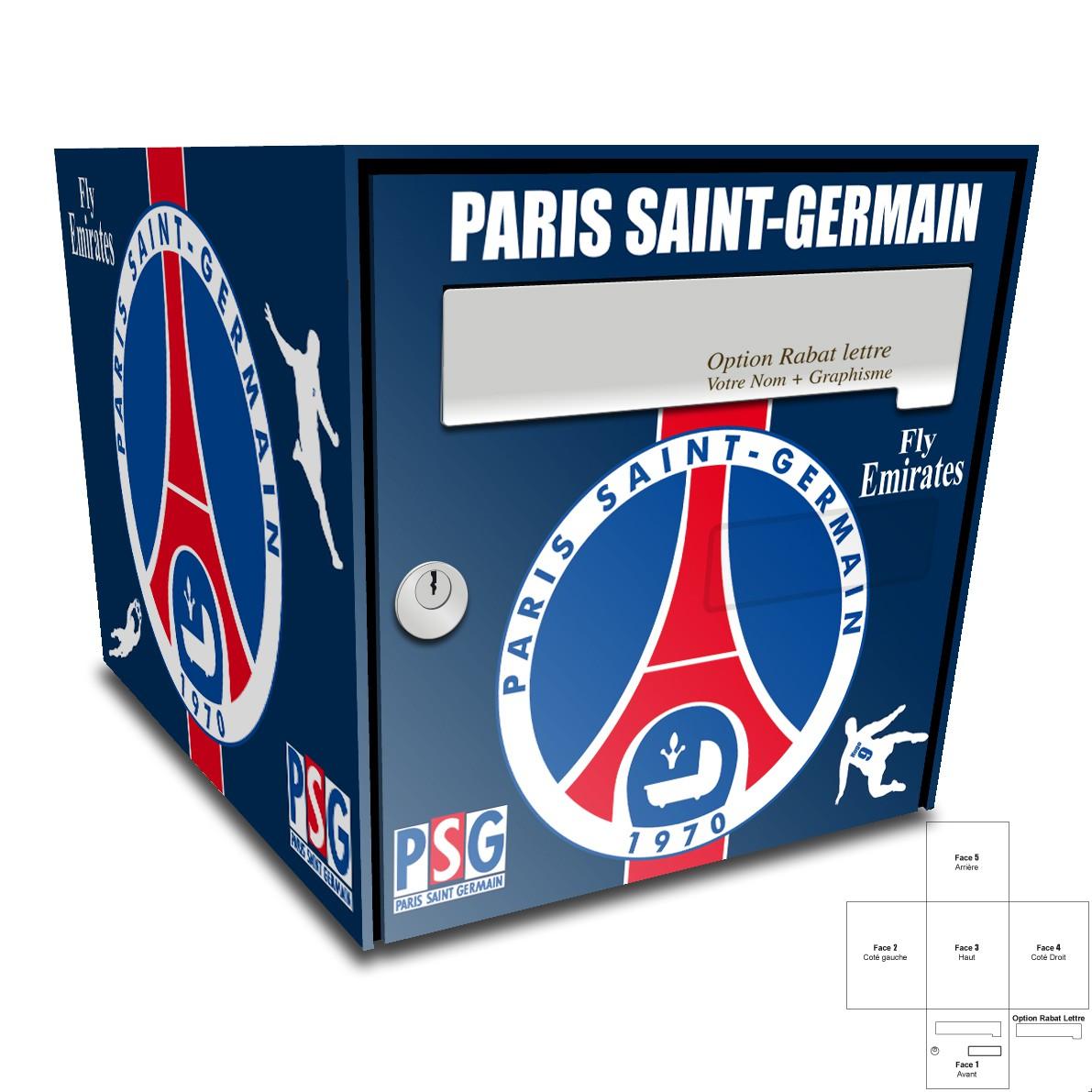 Sticker Boite Aux Lettres Psg