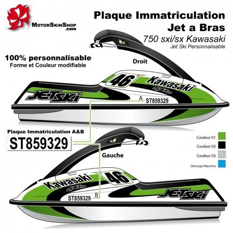 sticker plaque immatriculation jet ski a bras. Black Bedroom Furniture Sets. Home Design Ideas