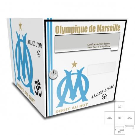 Sticker Boite aux lettres OM olympique de Marseille