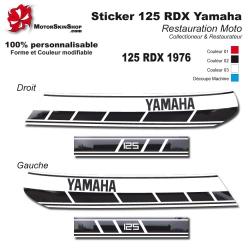 Sticker 125 RDX Moto Yamaha 1976