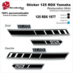 Sticker 125 RDX Moto Yamaha 1977