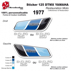 Sticker 125 DTMX Yamaha 1977
