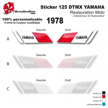 Sticker 125 DTMX Yamaha 1978