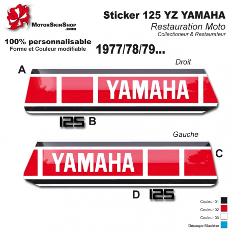 Sticker 125 YZ 1977 1978 1979