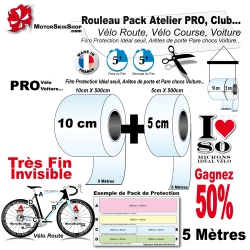 Pack Atelier Film Protection PRO Vélo Route 80 Microns