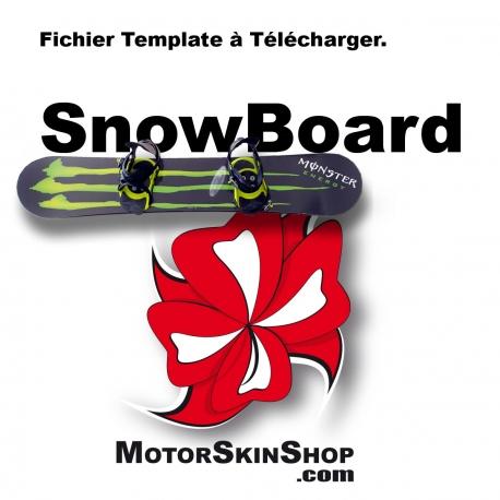 Gabarit Template SnowBoard