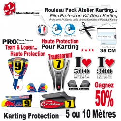 Rouleau Film Protection Karting Kit Déco PRO Pack Atelier Team course