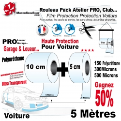 Rouleau Film Protection Voiture PRO Protection Pack Atelier