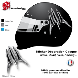 Sticker Griffe Wolverine Monstre Lame Arme casque
