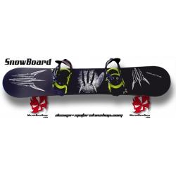 Sticker SnowBoard Wolverine