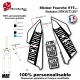 Sticker Fourche Rockshox LYRIK SHINY 2016