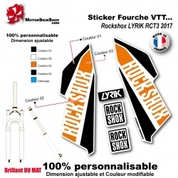 Sticker Fourche Rockshox LYRIK RCT3 2017