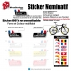 Sticker nom Vélo cadre et selle personnalisable Small