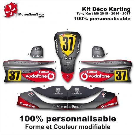 Kit déco Karting Tony Kart M6 Personnalisable McLaren