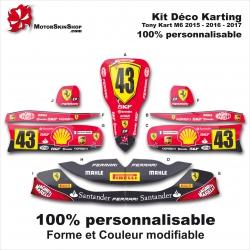 Kit déco M6 Tony Kart Karting Personnalisable Ferrari