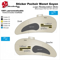 Sticker Pochoir Monet Goyon Logo