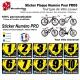 Sticker Plaque Numéro identification Vélo Pro