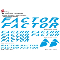 Sticker Factor Cadre Vélo