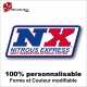 Sticker NX Nitous Express Dragster