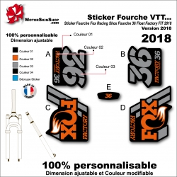 Sticker Fourche Fox Racing 2018 Shox 36 Float Factory FIT