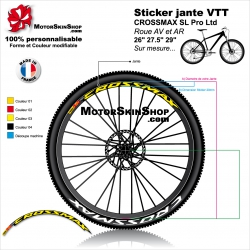 "Sticker jante VTT CROSSMAX SL Pro Ltd Mavic 26"" 27.5"" 29"""