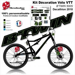 Sticker cadre VTT B'TWIN 500S 540S 560S 740S Decathlon 2018