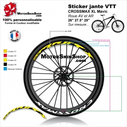 "Sticker jante VTT CROSSMAX XL Mavic 26"" 27.5"" 29"""