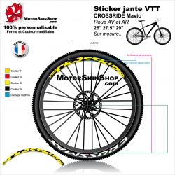 "Sticker jante VTT CROSSRIDE Mavic 26"" 27.5"" 29"""