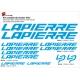 Sticker Lapierre Cadre VTT et Batterie 2018