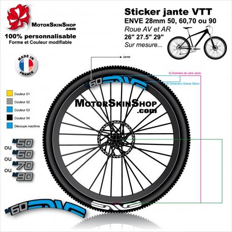 Sticker jante VTT ENVE 28mm version M50 M60 M70 ou M90