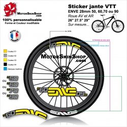 Sticker jante VTT ENVE 28mm version M50 M60 M70 ou M90