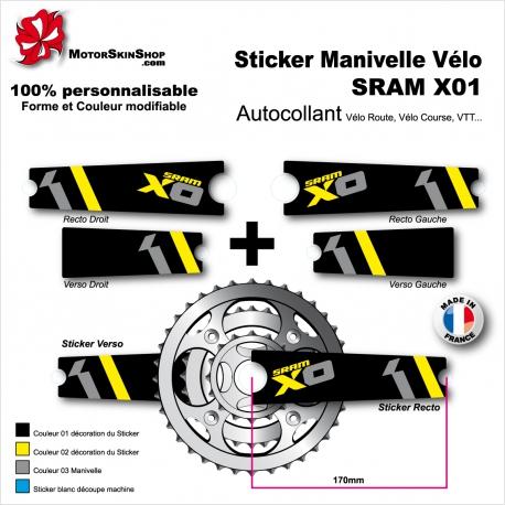 Sticker Manivelle SRAM X01 Vélo
