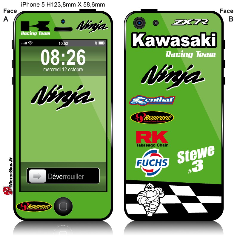 coque kawasaki iphone x